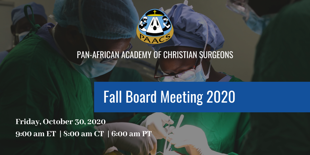 PAACS Fall 2020 Board of Directors Meeting