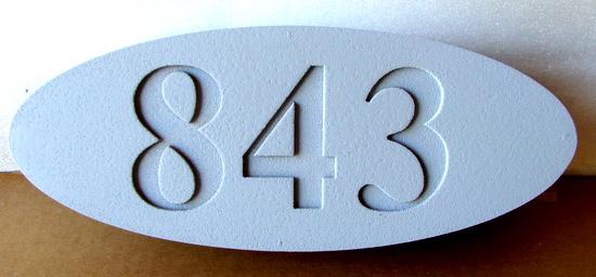 I18903 -Oval Engraved  HDU Address Number