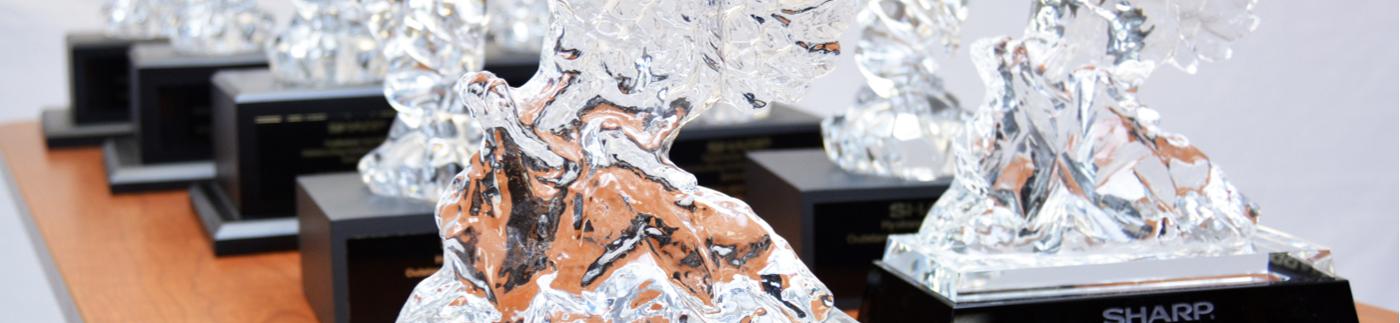 Glass Award Sculptures
