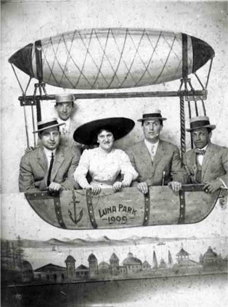 Alfred & Tillie Shemanski at Luna Park c1909