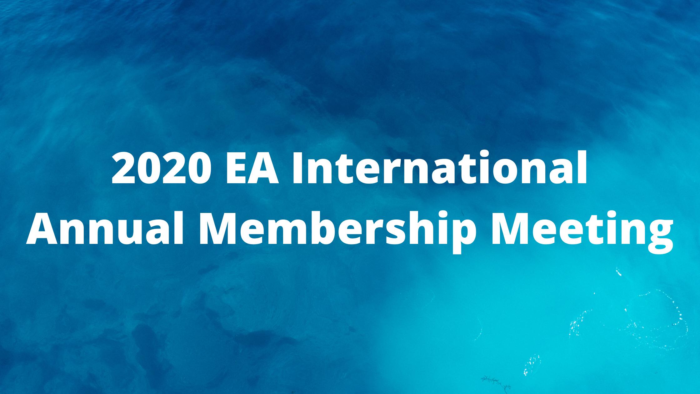 EAI Annual Membership Meeting