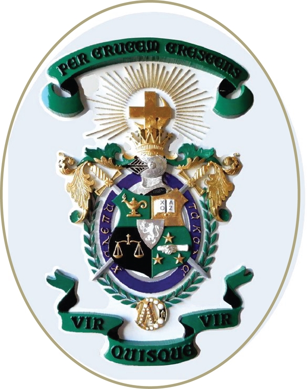 EA-6350 - Coat-of-Arms of Lambda Chi Alpha Fraternity Mounted on Sintra Board