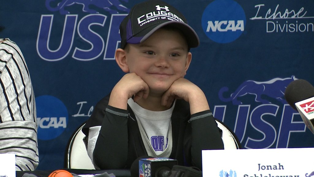USF Men's Basketball Coach Recruits 7-Year-Old