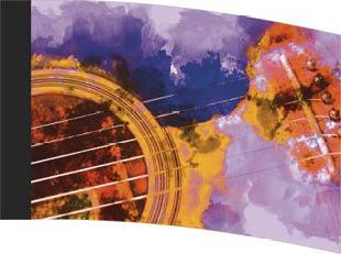 Macro Watercolor Guitar