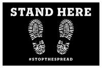 """12"""" x 18"""" Stand Here Decal"""