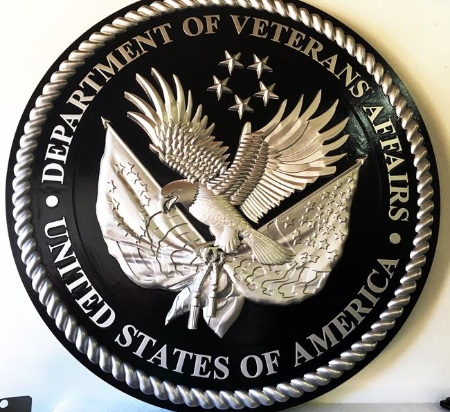 M6025 - Seal of the US Department of Veteran's Affairs. 3-D