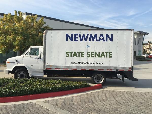 Box Truck Lettering for Politicians in Orange County CA