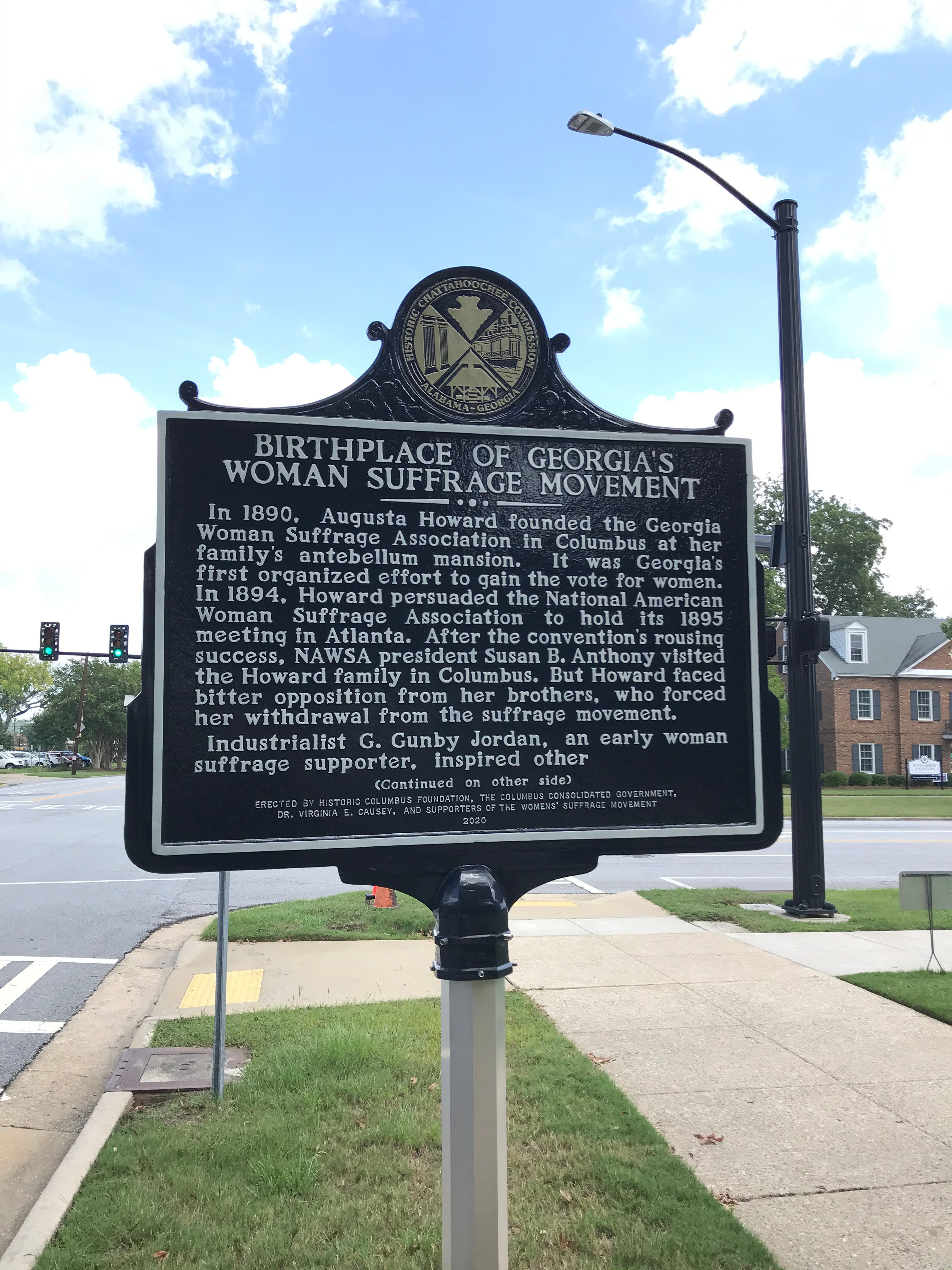 The Columbus Museum, Historic Columbus Partner to Recognize Columbus as Birthplace of Georgia's Women's Suffrage Movement