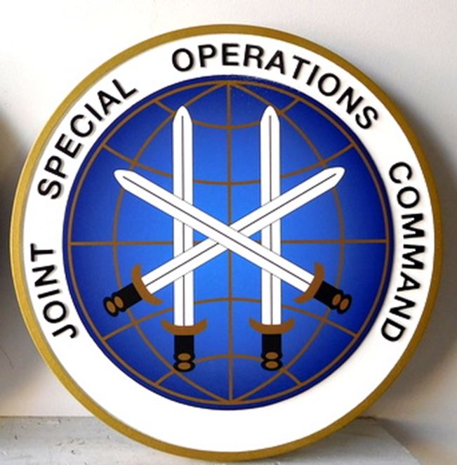 IP-1660 -  Carved Plaque of the Seal of  the Joint Special Operations Command,  Artist Painted
