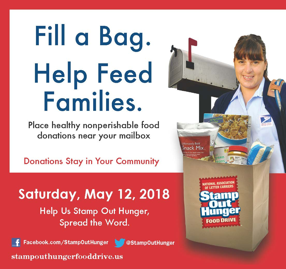 Stamp Out Hunger City Wide Food Drive On May 12th