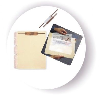 self adhesive file dividers fasteners pockets