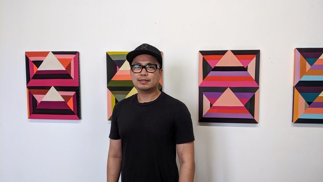 The artist Paolo Arao in his studio, 2019