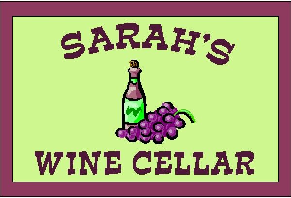 R27160 - Wall Plaque for Sarah's  Home Wine cellar