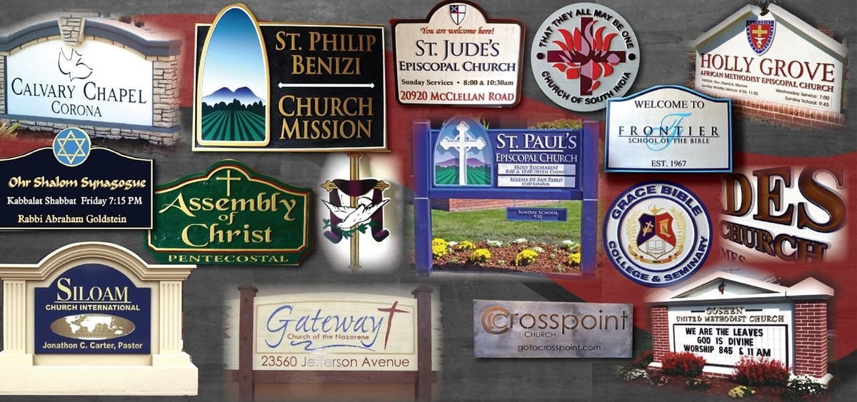 Plaques & Signs for Church & Other Religious Institutions