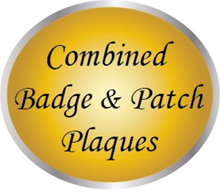 PP1900- Combined Badge & Patch Plaques
