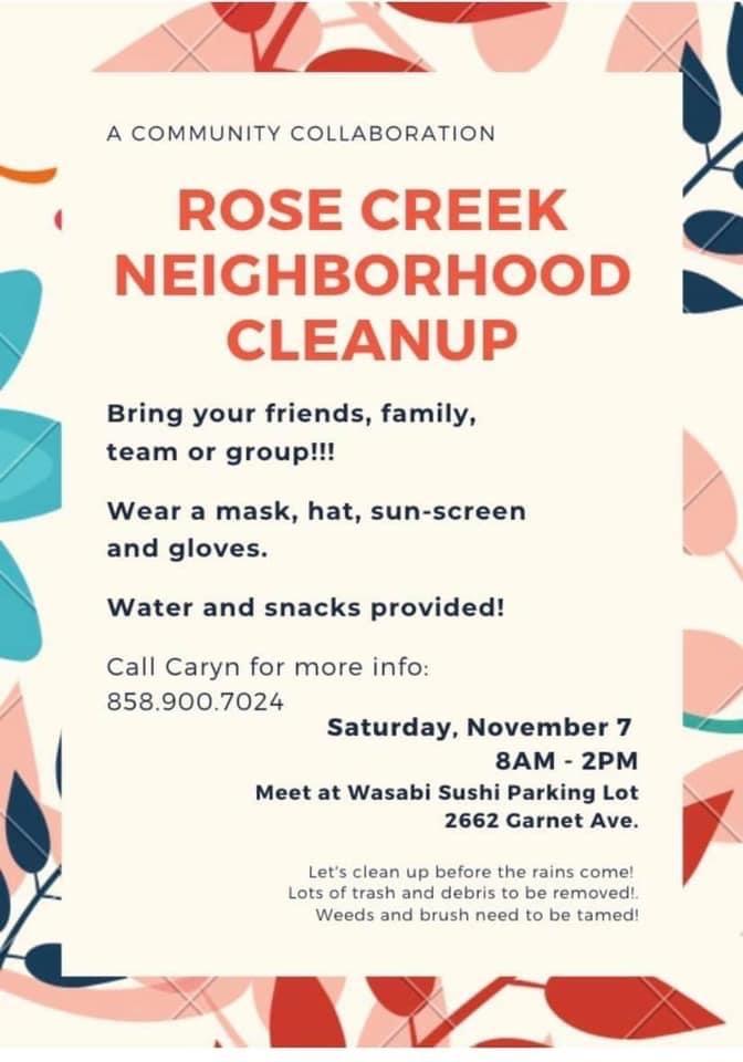 Partner event: Rose Creek Neighborhood Cleanup