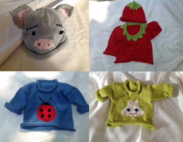 Artisan Trunk Show Featuring Lulu LuBouvier, Knitted Baby Clothes (posted August 17, 2015)