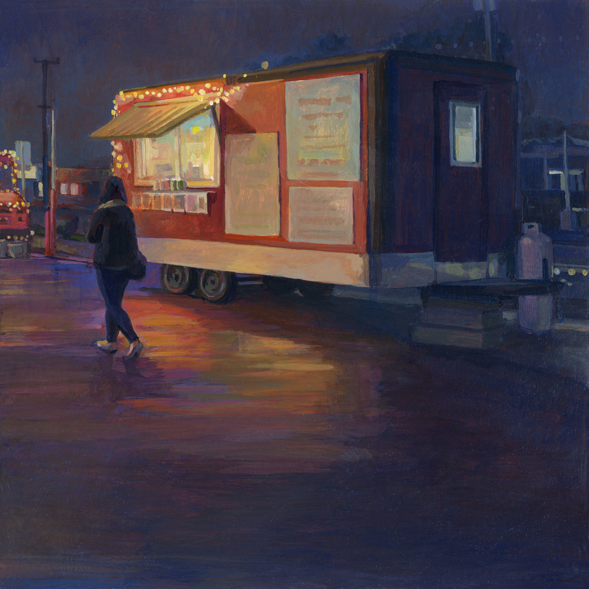 Food Truck Park After the Rain