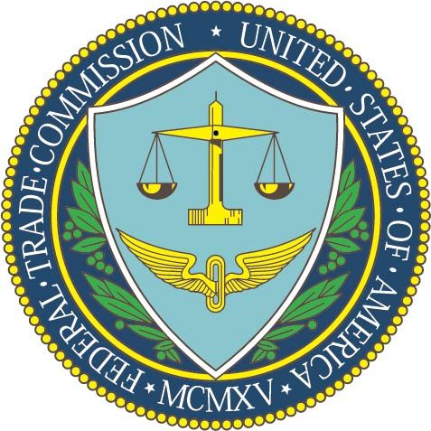 U30780 -Carved Wood Wall Plaque of the Seal of  US Federal Trade Commission (FTC)