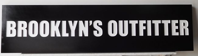"""SA28484 - Carved Engraved Cedar Wood  Sign for  """"Brooklyn's Gallery"""""""