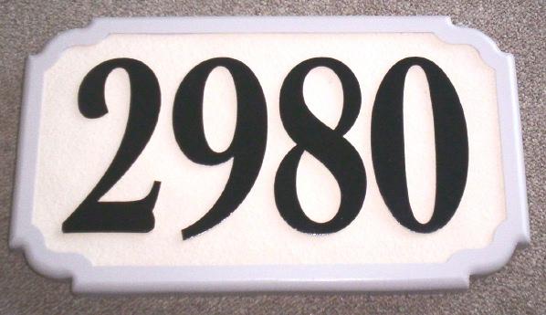 KA20870 - Carved HDU (Or Wood)  Address Street Number Sign