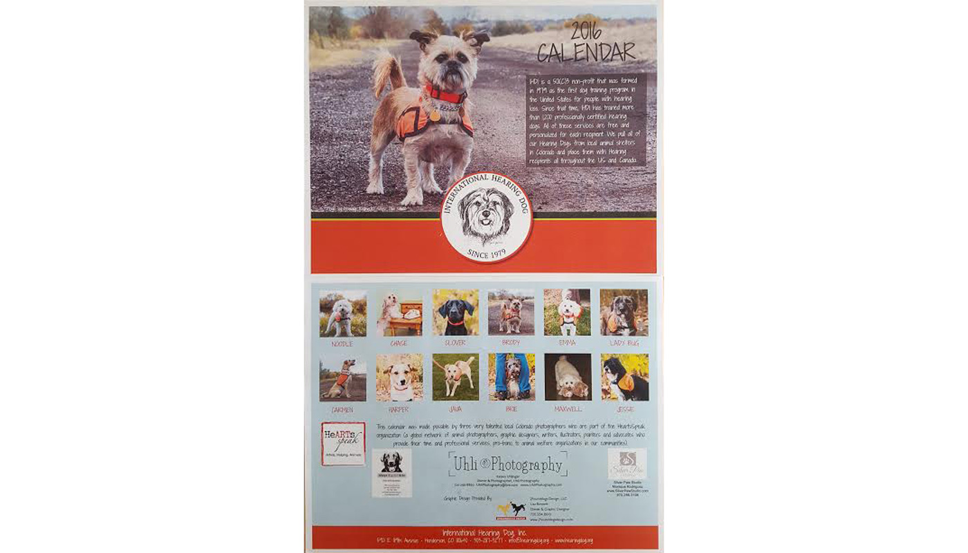 Check out our 2016 Hearing Dog Wall Calendar