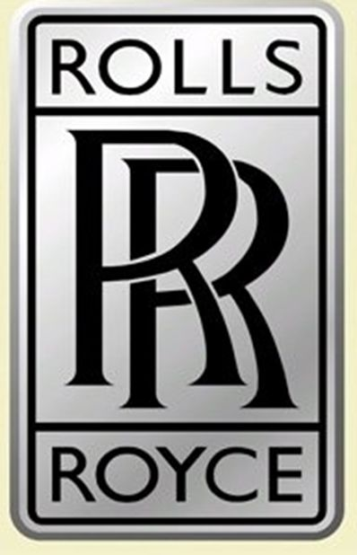 VP-1260 - Engraved  Wall Plaque of the Logo of Rolls Royce, Aluminum Plated