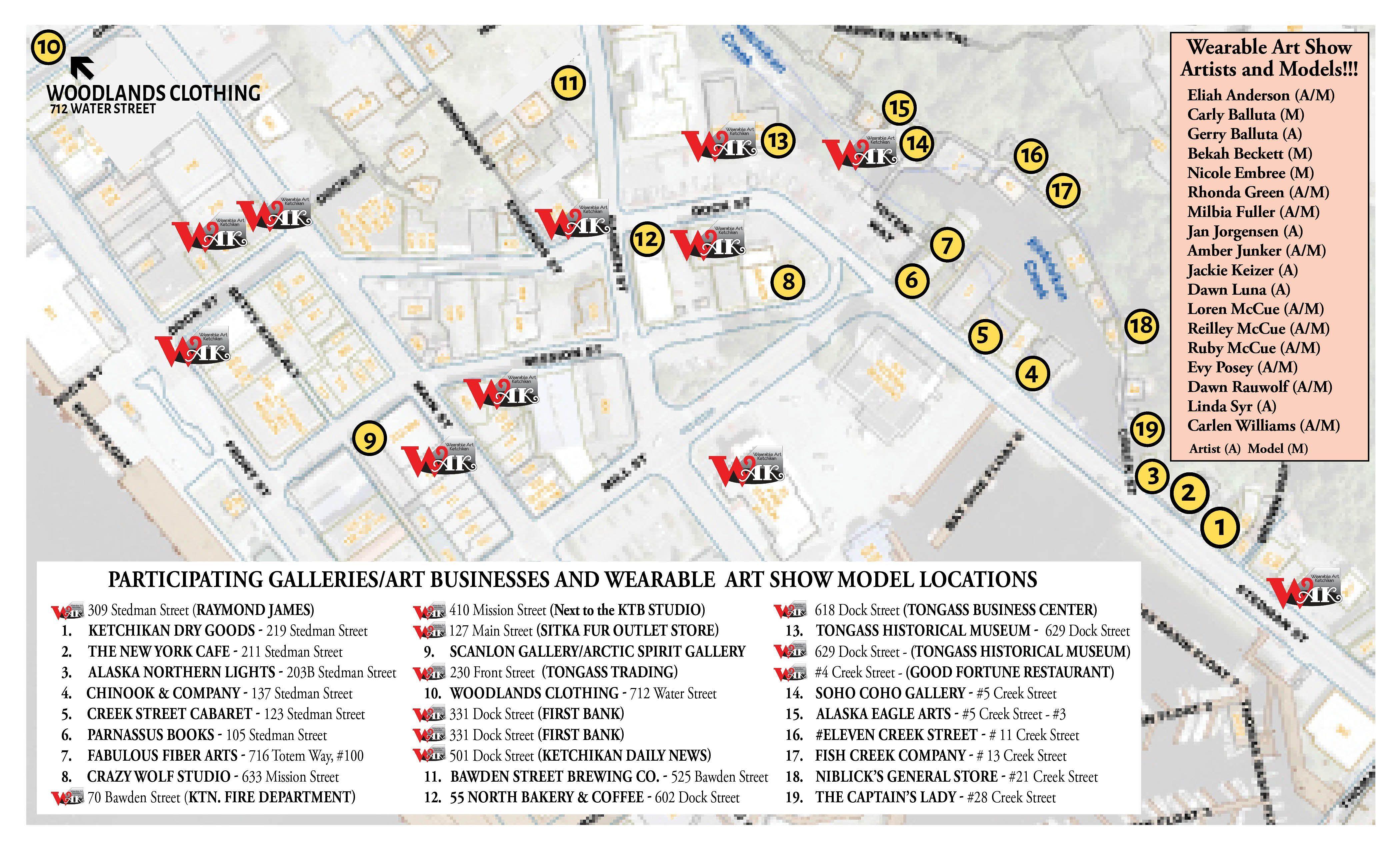"""""""Mixed Up"""" Wearable Art Walk Map"""