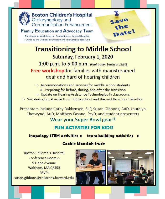 Middle School Transition Workshop