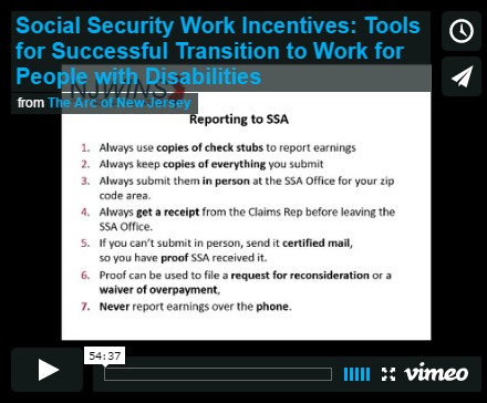 Social Security Work Incentives: Tools for Successful Transition to Work for People with Disabilities