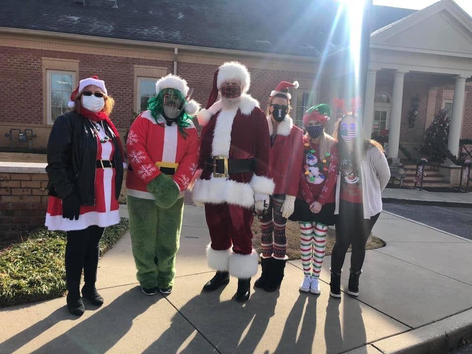 Santa and the Grinch Visit MOSD!