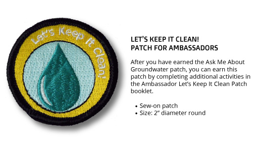 "Ambassador ""Let's Keep It Clean"" Patch"