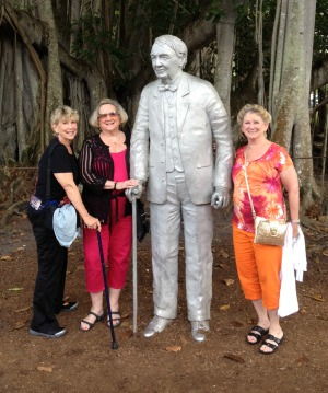 Lynn with her sisters at the Thomas Edison home in Florida