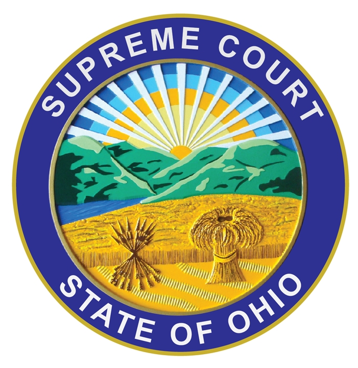 GP-1380 - Carved Plaque of the Seal of the  Supreme Court, State of Ohio, Artist Painted