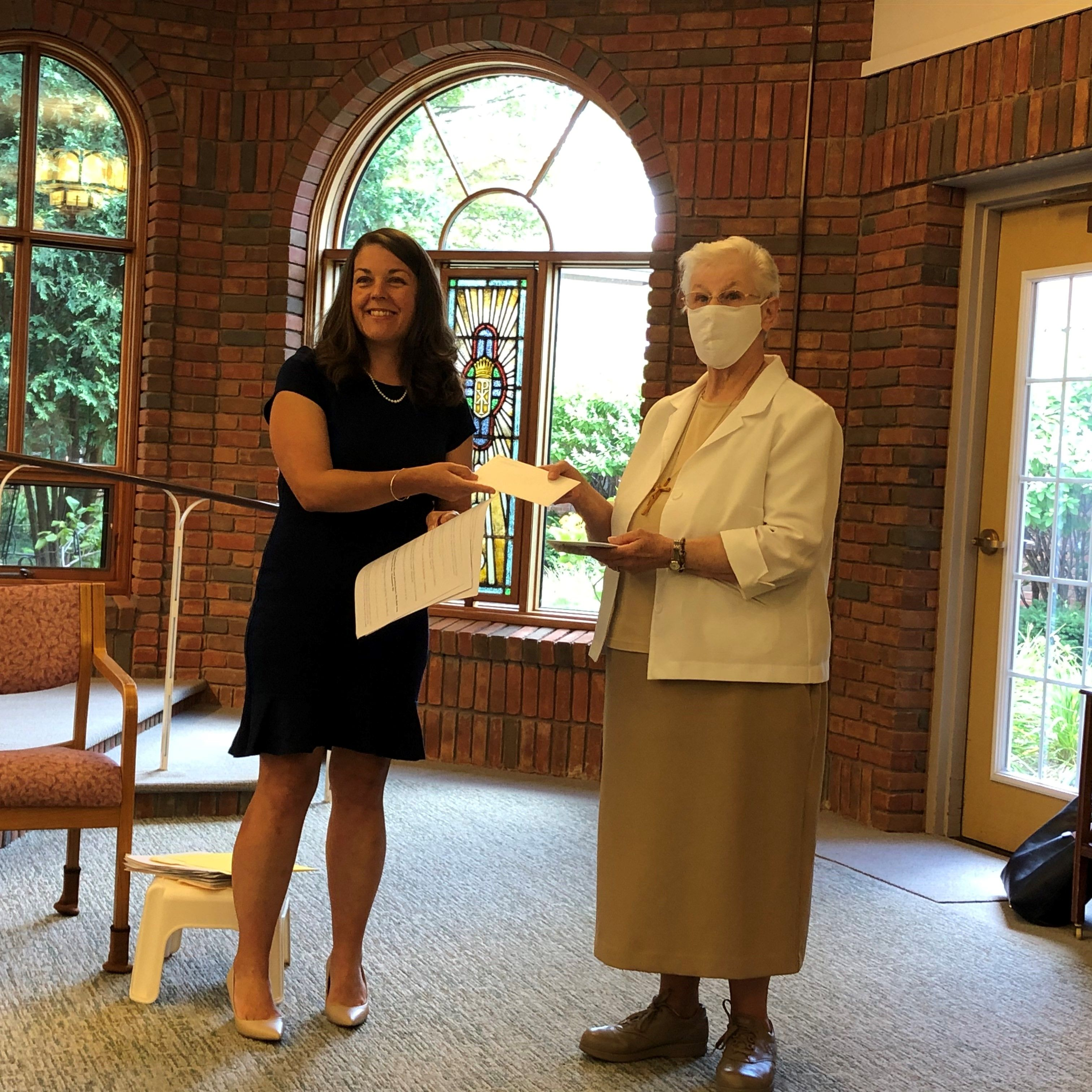 Catholic Foundation of Michigan Presents $10,000 Check to Livonia Sisters