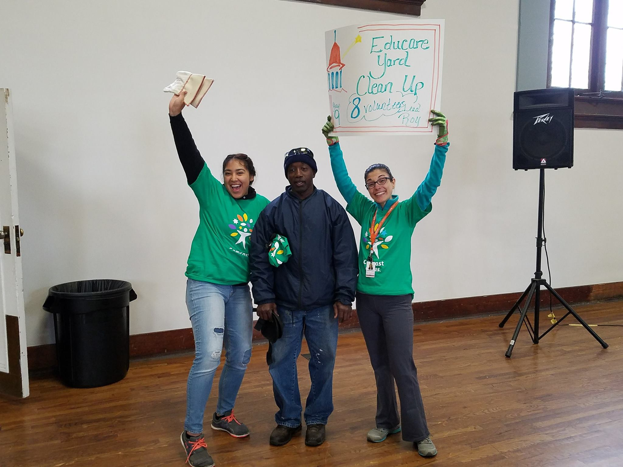 Volunteers having fun on Comcast Cares Day 2017