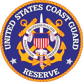 NP-1300- Carved Plaque of the Great Seal of the US Coast Guard Reserve, Artist Painted