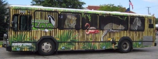 Custom Wrapped Bus Vehicle