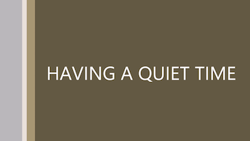 EMAW Quiet Time Tutorial