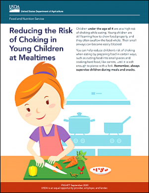 New! Reducing the Risk of Choking in Young Children at Mealtimes