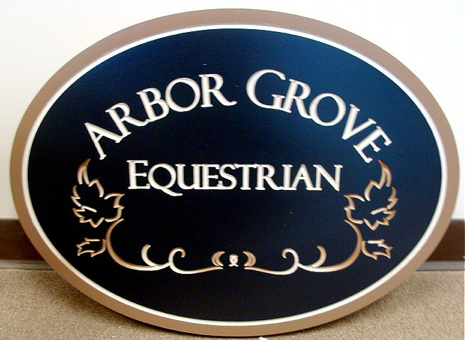 P25004 - Engraved HDU Equestrian Sign