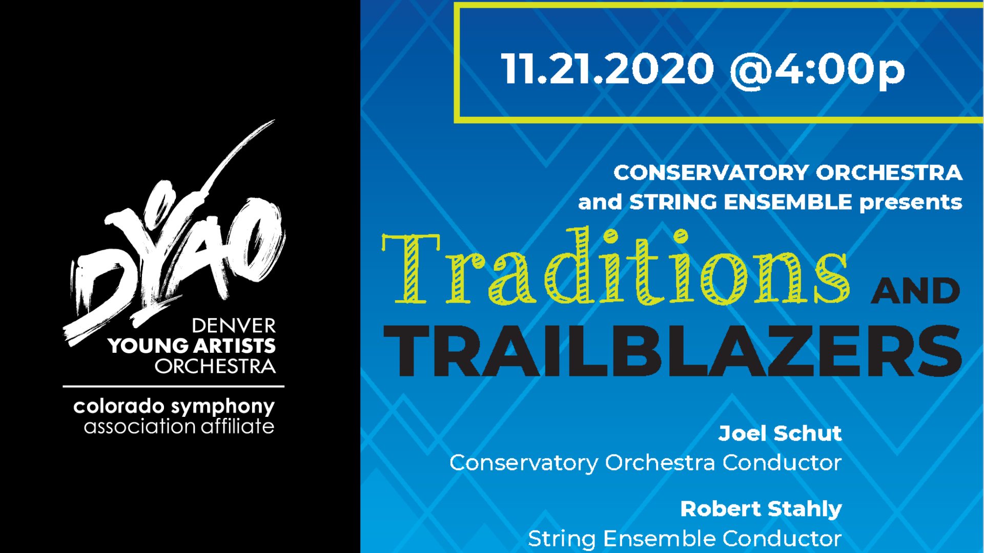 Conservatory Orchestra and String Ensemble present Tradition & Trailblazers