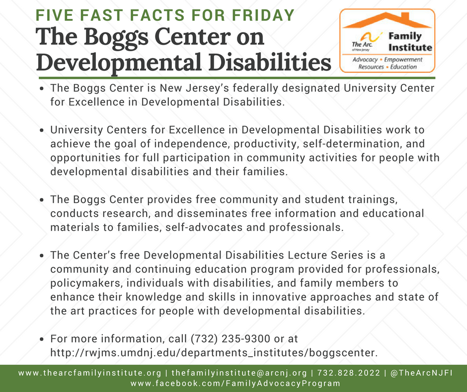 The Boggs Center on Developmental Disabilities