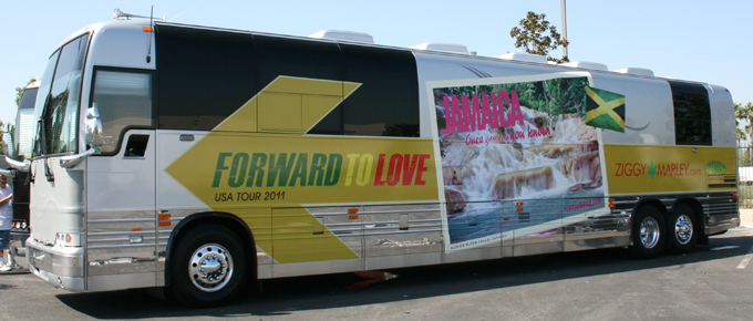 Ziggy Marley bus wrap