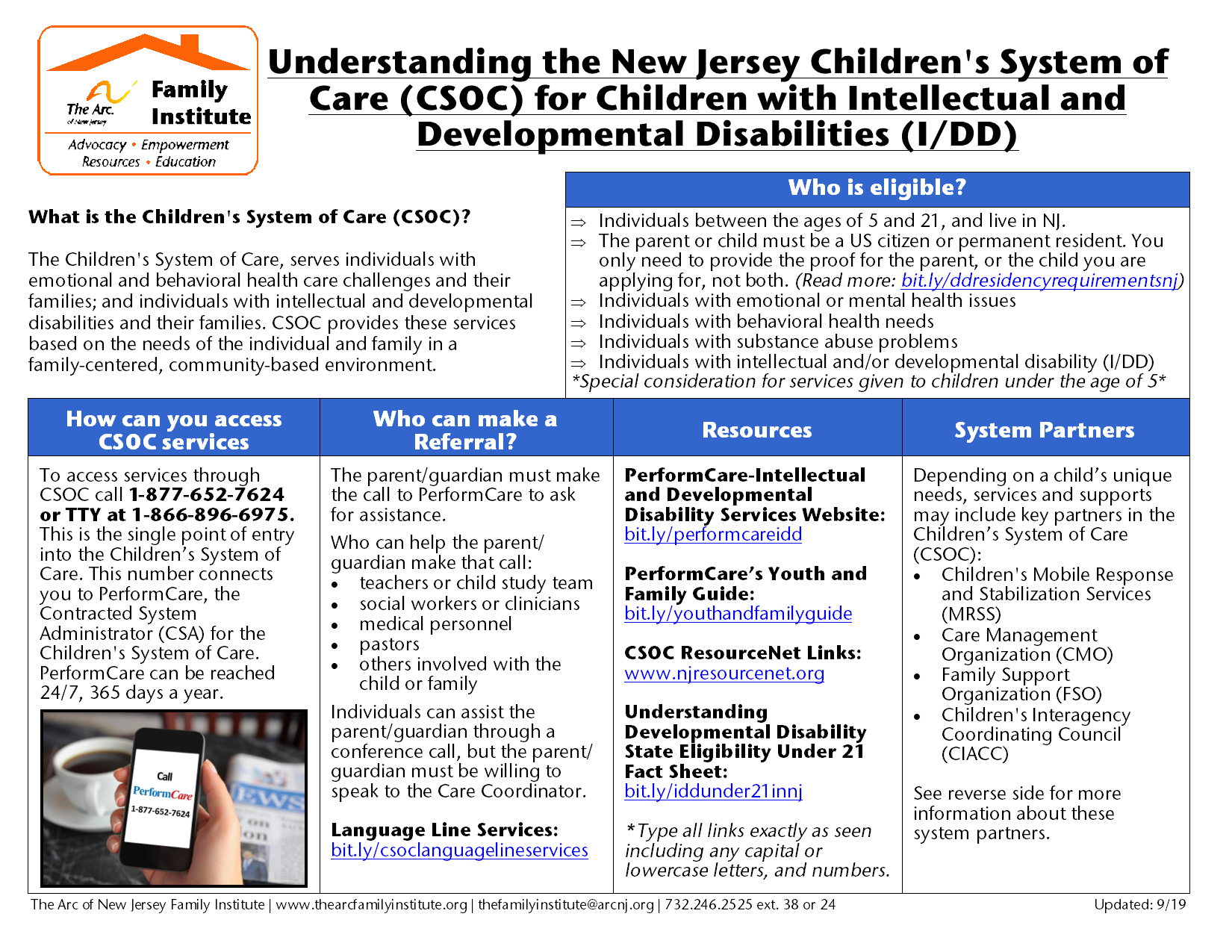 Understanding the New Jersey Children's System of Care (CSOC) for Children with Intellectual and Developmental Disabilities (I/DD)