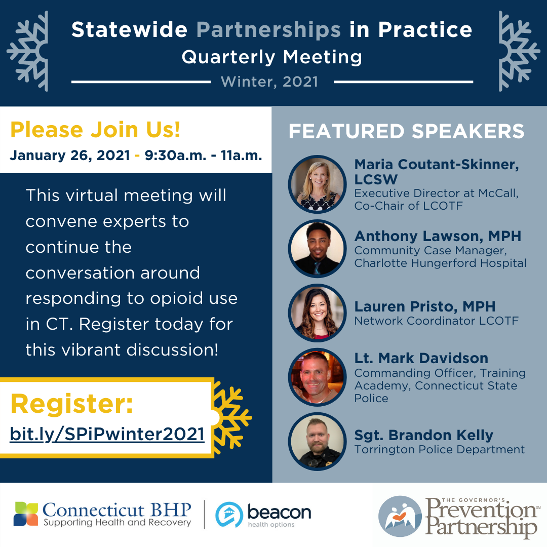 Statewide Partnerships in Practice: Winter, 2021 Quarterly Meeting