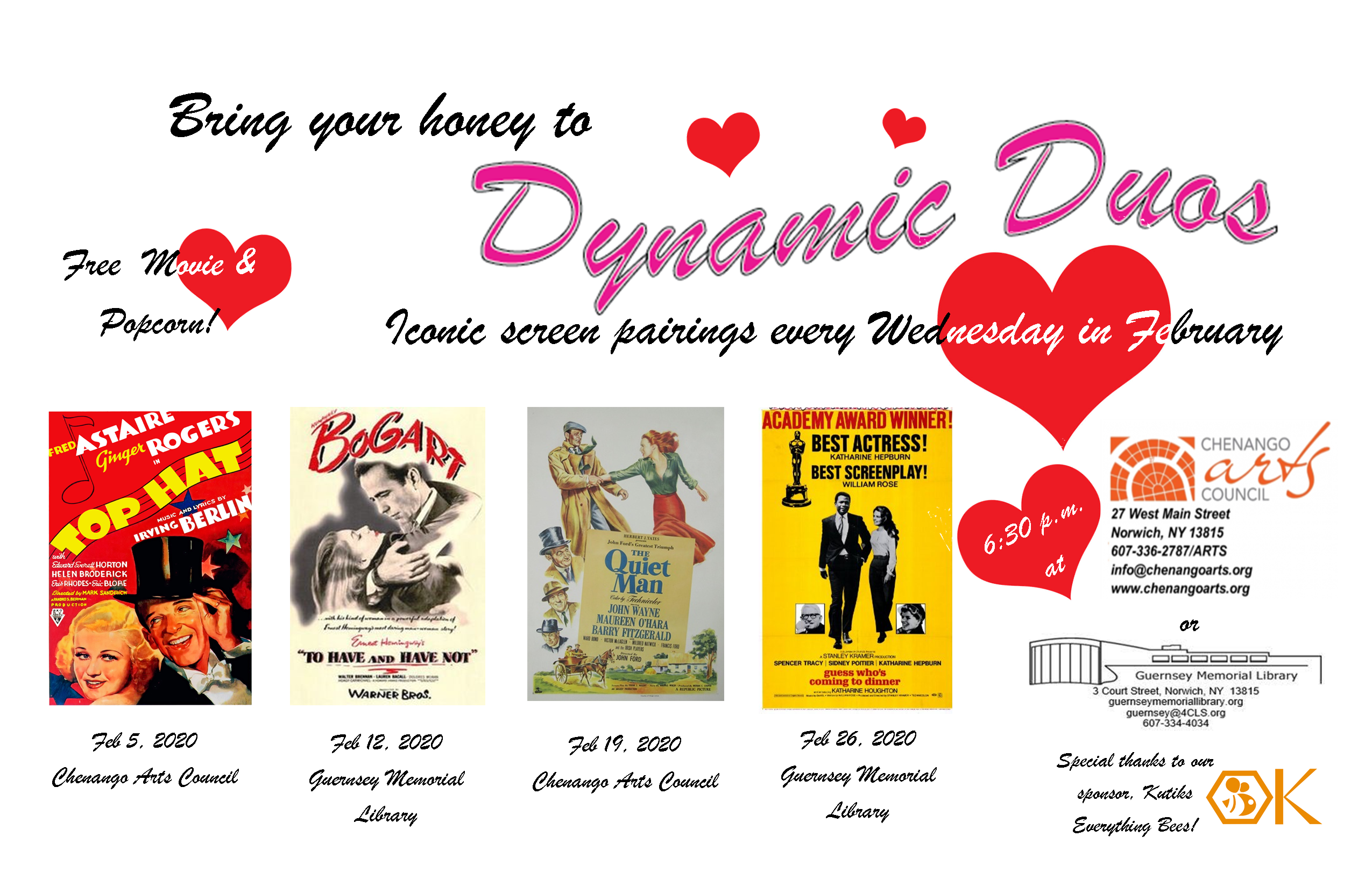 Dynamic Duos FREE February Movies