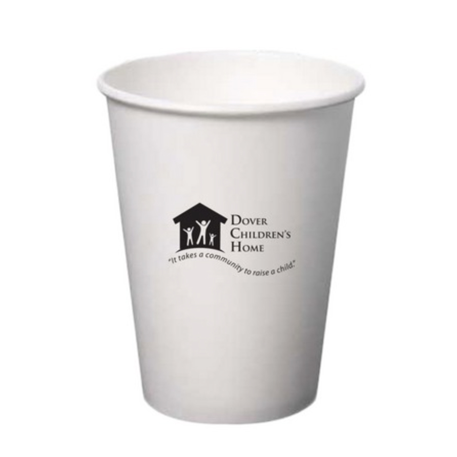 12 Oz. Paper Hot Cup (Petite Line) (White)