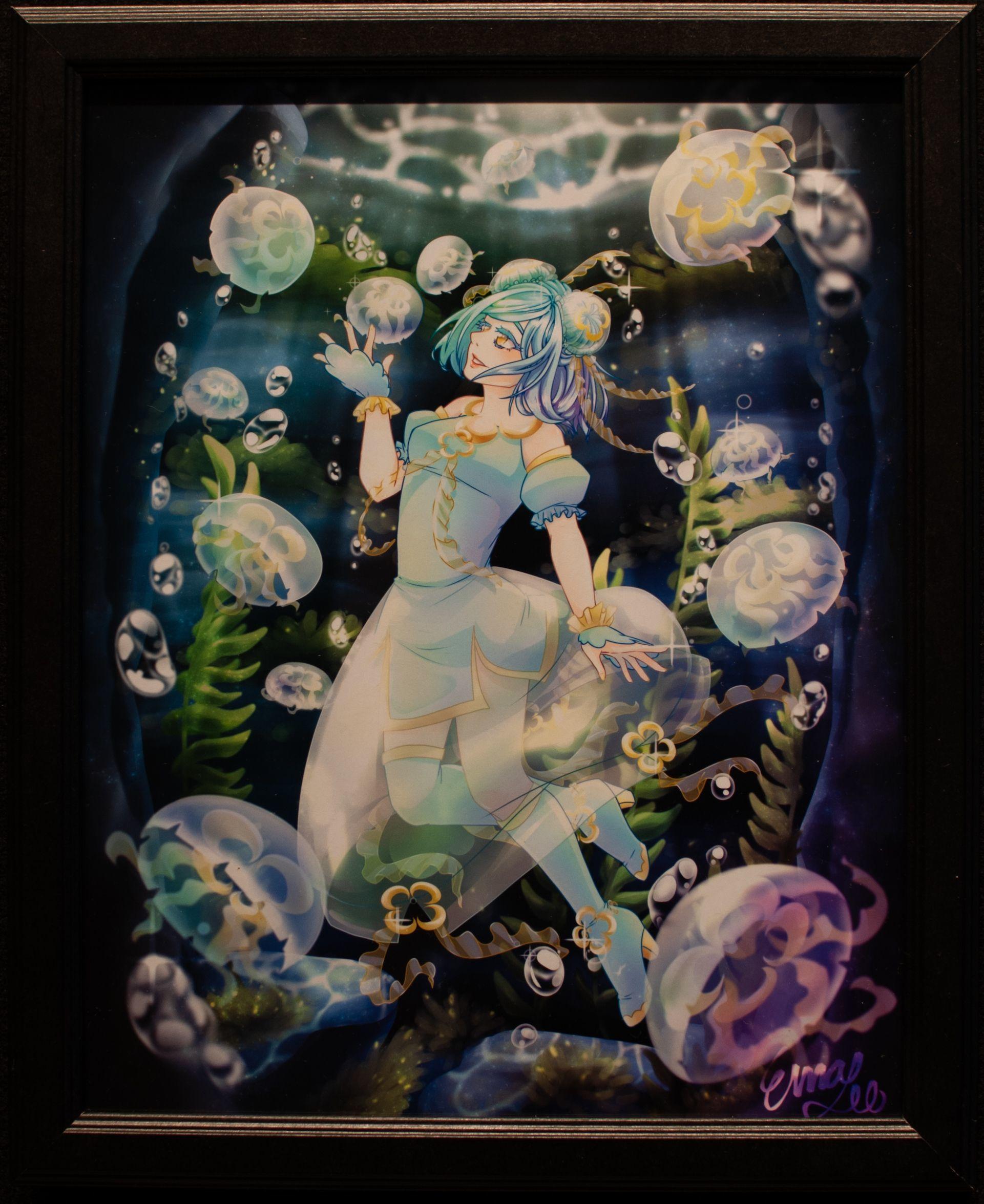 """Moon Jelly's Peaceful Cave"" - Ema Oshima"