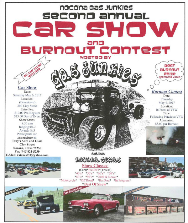 Nocona Economic Development Corporations Events Activities - Car show event calendar